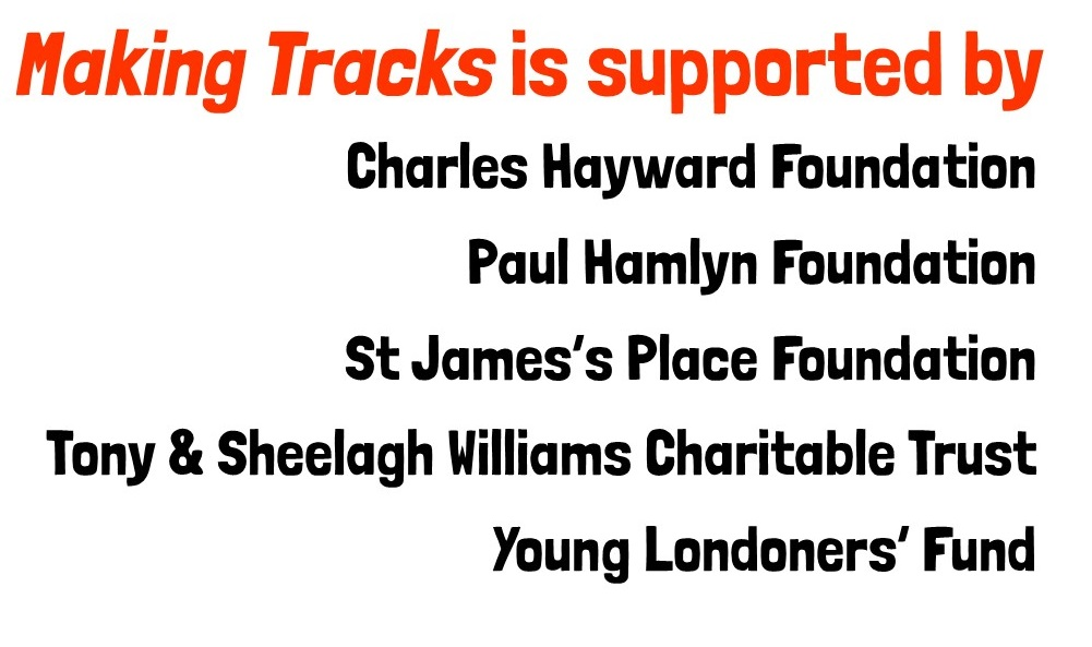 Making Tracks is supported by